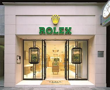 写真:平成14年(2002年)ロレックス正規品専門店「レキシア銀座」を東京銀座にオープン